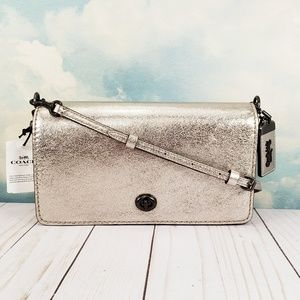 COACH Dinky Crossbody 1941 Platinum Pewter